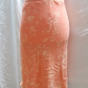 Casual Corner Lined Peach Skirt, Size 14